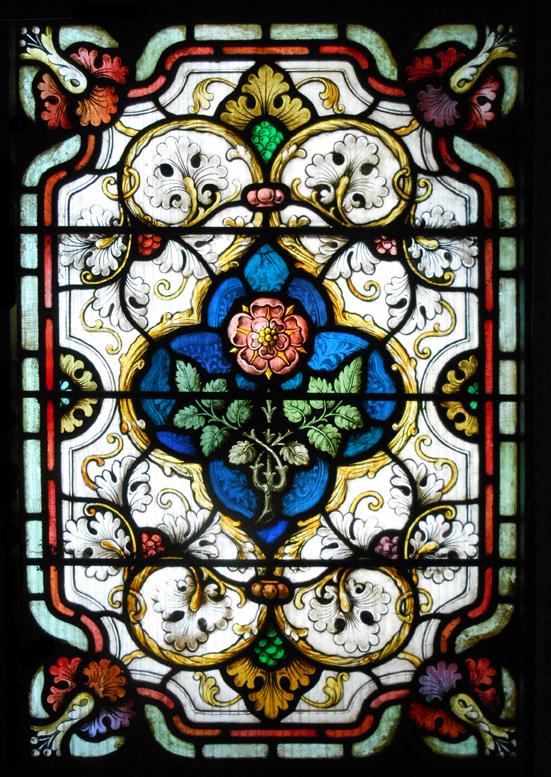 One of the narthex door panels