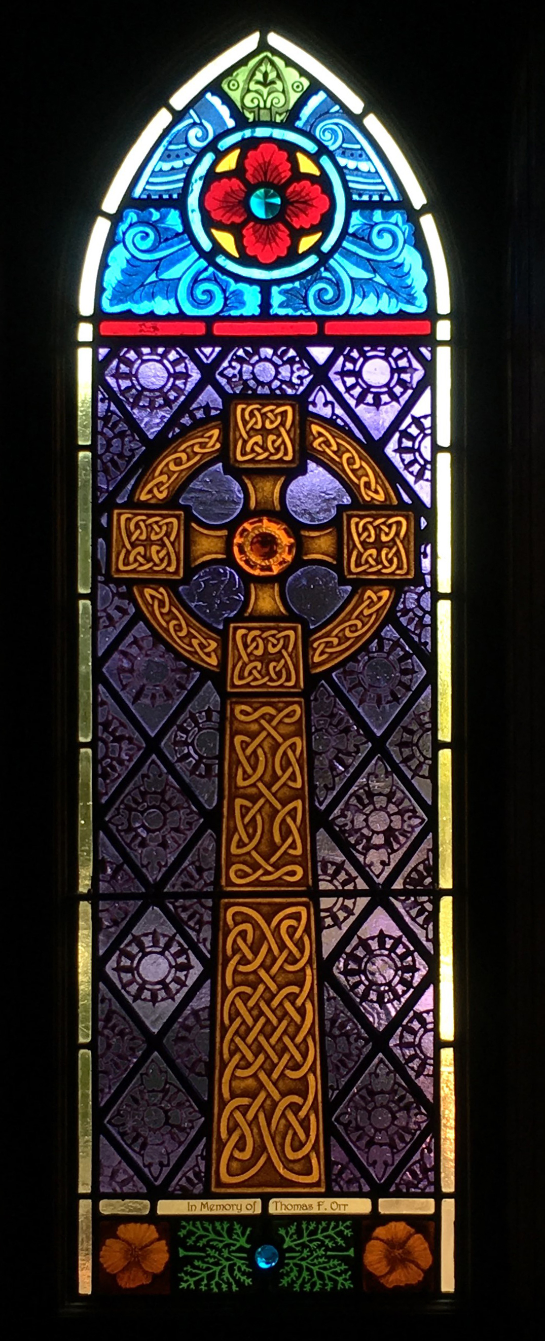 Commissioned memorial window