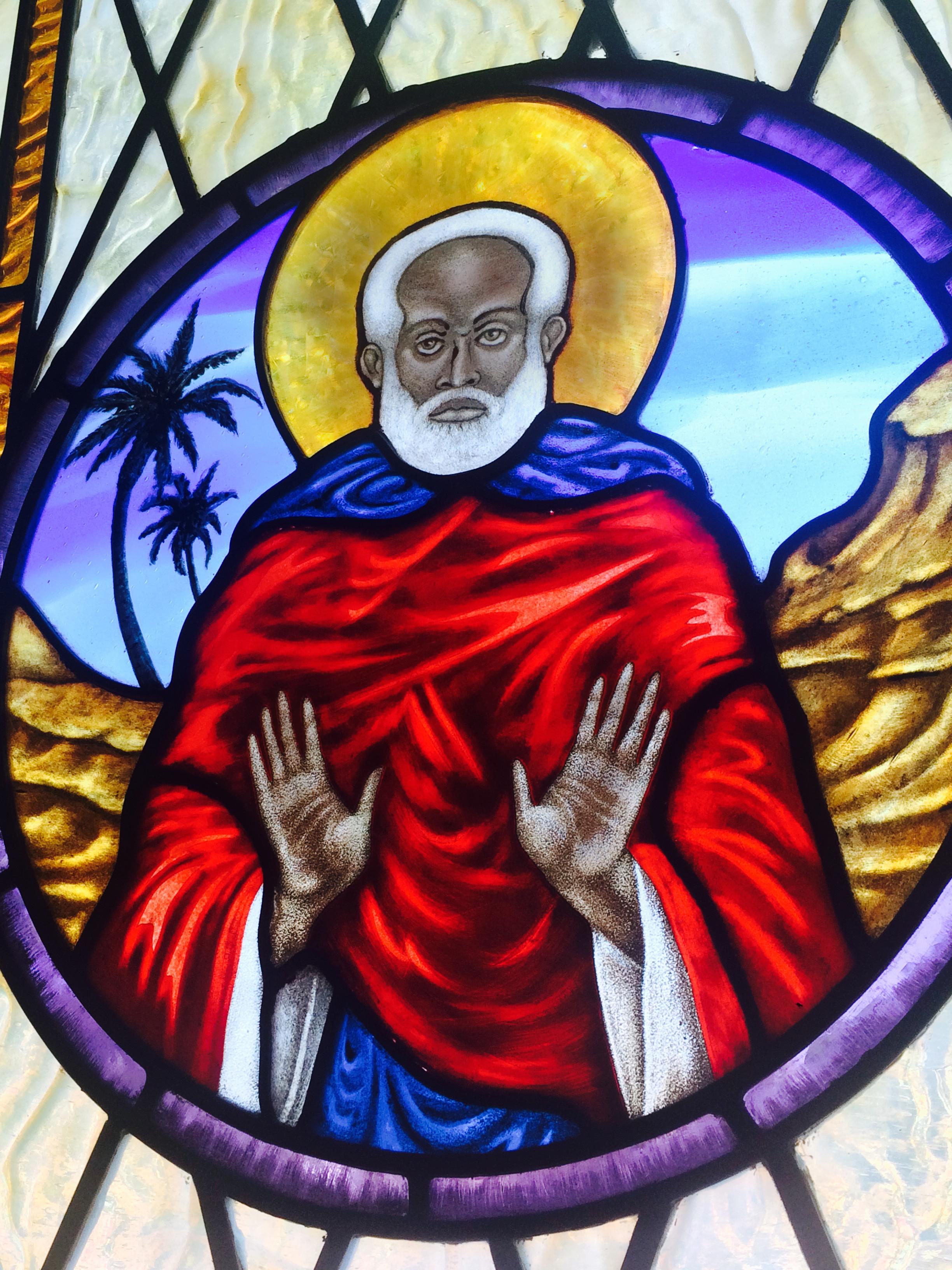 Portrait of Saint Moses the Ethiopian.