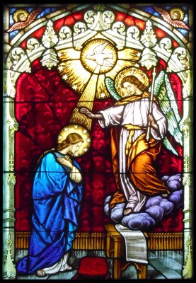 Detail from The Annunciation window