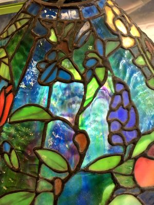 Stained and Tiffany Style Glass Lamp